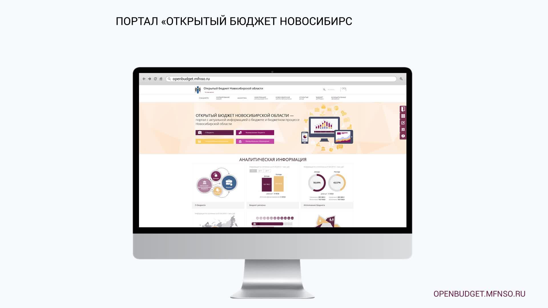 Информационно-аналитический портал «Открытый бюджет Новосибирской области»
